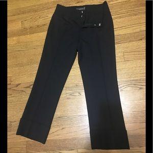 Banana republic black ankle wool pants